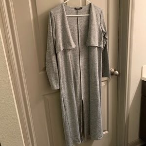 💕Women's Boohoo Long Grey Cardigan-Size 6💕